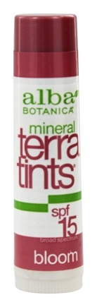 Alba Botanica - Terra-Tints Lip Balm Bloom 15 SPF - 0.15 oz.