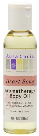 DROPPED: Aura Cacia - Aromatherapy Body Oil Body Oil Heartsong - 4 oz. CLEARANCE PRICED