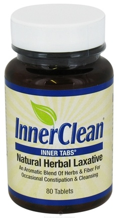 DROPPED: At Last Naturals - InnerClean Inner Tabs Natural Herbal Laxative 640 Mg. - 80 Tablets (Formerly Innertabs) CLEARANCE PRICED
