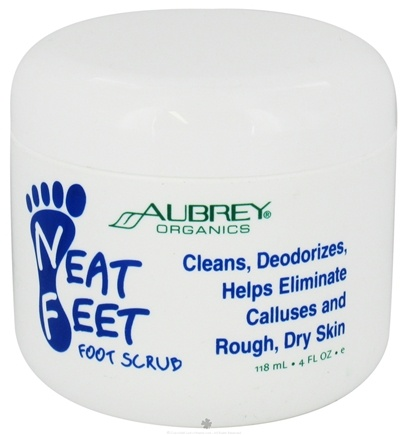 DROPPED: Aubrey Organics - Neat Feet Foot Scrub - 4 oz. CLEARANCE PRICED