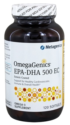 Metagenics - OmegaGenics EPA-DHA 500 EC - 120 Enteric Coated Softgels (formerly EPA-DHA Extra Strength)