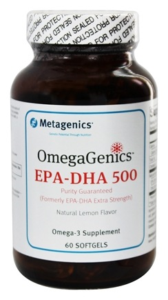 DROPPED: Metagenics - OmegaGenics EPA-DHA 500 Natural Lemon Flavor - 60 Softgels formerly EPA-DHA Extra Strength