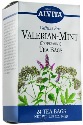DROPPED: Alvita - Valerian-Mint Caffeine Free Peppermint - 24 Tea Bags