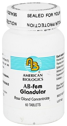 DROPPED: American Biologics - AB-FEM Glandular - 60 Tablets CLEARANCE PRICED