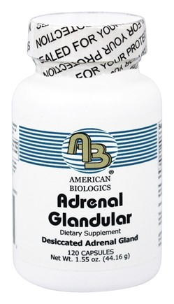 American Biologics - Adrenal Glandular Dietary Supplement 160 mg. - 120 Capsules