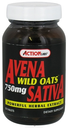 DROPPED: Action Labs - Avena Sativa Wild Oats 750 mg. - 50 Capsules CLEARANCE PRICED