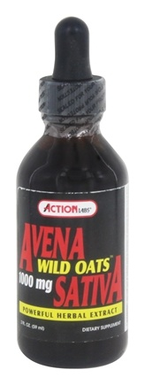 Action Labs - Avena Sativa Wild Oats Extract 1000 mg. - 2 oz. wtih Oat Straw Extract