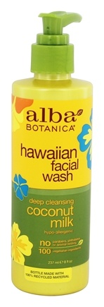 Alba Botanica - Hawaiian Facial Wash Coconut Milk - 8 oz.