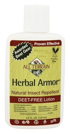 DROPPED: All Terrain - Herbal Armor Insect Repellent Lotion Deet-Free - 4 oz.