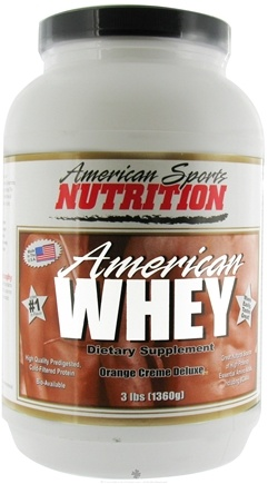 DROPPED: American Sports Nutrition - American Whey Orange Creme Deluxe - 3 lbs.
