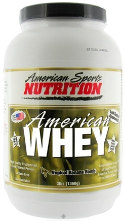 DROPPED: American Sports Nutrition - American Whey Tropical Banana Bomb - 3 lbs.