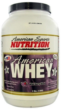 DROPPED: American Sports Nutrition - American Whey Wild Berry Blast - 3 lbs.