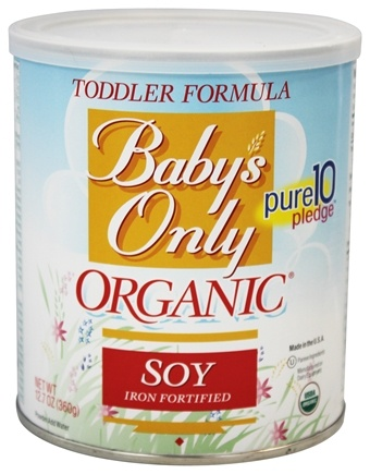 Baby's Only - Organic Soy Toddler Formula Iron Fortified - 12.7 oz.