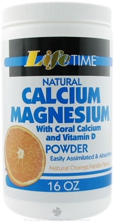 DROPPED: LifeTime Vitamins - Calcium Magnesium Powder with Coral Calcium - 16 oz.