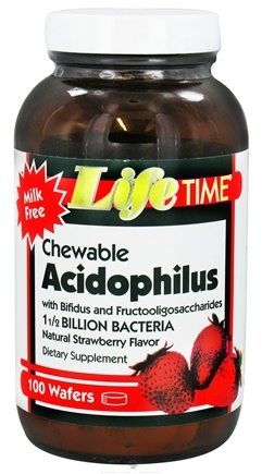 DROPPED: LifeTime Vitamins - Chewable Acidophilus Strawberry - 100 Wafers