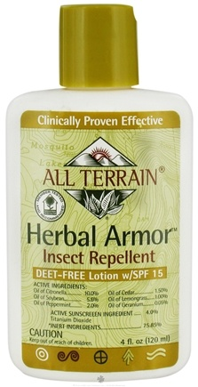DROPPED: All Terrain - Herbal Armor Insect Repellent Lotion Deet-Free 15 SPF - 4 oz.