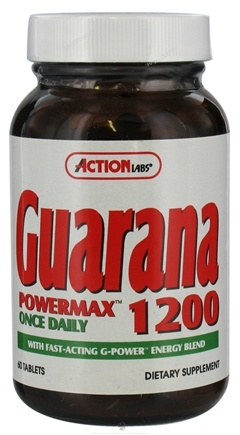 DROPPED: Action Labs - Guarana PowerMax Once Daily 1200 mg. - 60 Tablets CLEARANCE PRICED
