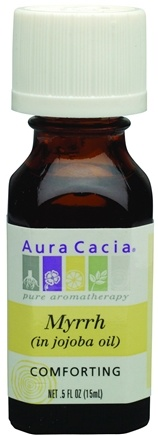 DROPPED: Aura Cacia - Essential Oil Comforting Myrrh in Jojoba Oil - 0.5 oz. CLEARANCE PRICED