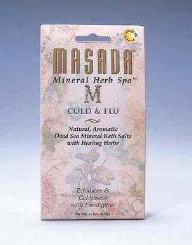DROPPED: Masada - Dead Sea Mineral Herb Spa Salts, Cold & Flu - 6 oz. CLEARANCE PRICED