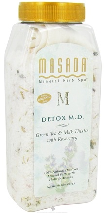 DROPPED: Masada - Dead Sea Mineral Herb Spa Salts DeTox M.D. - 2 lbs.