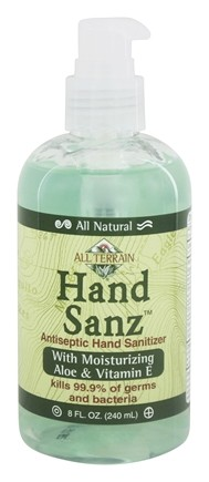 All Terrain - Hand Sanz Hand Sanitizer with Aloe & Vitamin E - 8 oz.