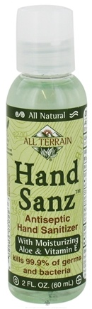 DROPPED: All Terrain - Hiker's Hand Sanz Hand Sanitizer with Aloe & Vitamin E - 2 oz. CLEARANCE PRICED