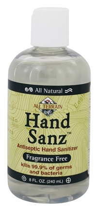 All Terrain - Hand Sanz Hand Sanitizer Fragrance Free - 8 oz.