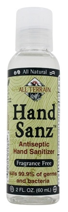 All Terrain - Hand Sanz Antiseptic Hand Sanitizer Fragrance Free - 2 oz.