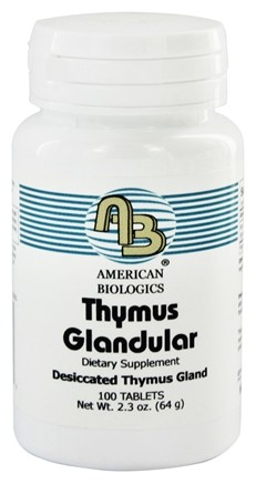 DROPPED: American Biologics - Thymus Glandular Raw Gland Concentrate 150 mg. - 100 Tablets