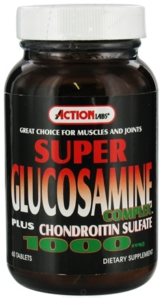 DROPPED: Action Labs - Super Glucosamine Complex 1000 Mg. - 60 Tablets CLEARANCE PRICED