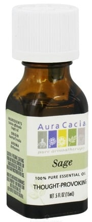 DROPPED: Aura Cacia - Essential Oil Thought-Provoking Sage - 0.5 oz. CLEARANCE PRICED