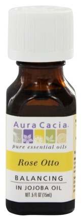 DROPPED: Aura Cacia - Precious Essentials Balancing Rose Otto in Jojoba - 0.5 Oz.