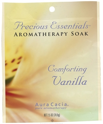 DROPPED: Aura Cacia - Precious Essentials Aromatherapy Soak Comforting Vanilla - 2.5 oz. CLEARANCE PRICED