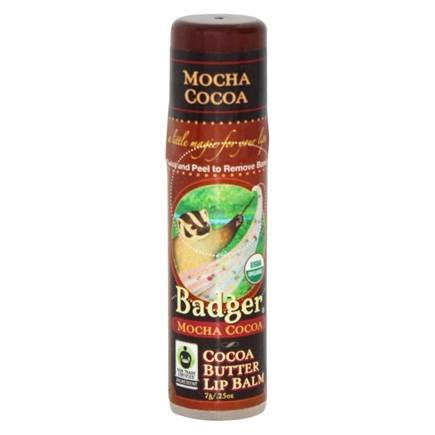 Badger - Certified Organic Cocoa Butter Lip Balm Stick Mocha Cocoa - 0.25 oz. Formerly  Coffee Roast