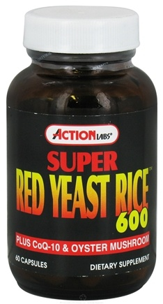 DROPPED: Action Labs - Super Red Yeast Rice - 60 Capsules CLEARANCE PRICED