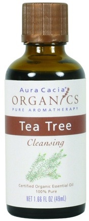 DROPPED: Aura Cacia - Certified Organic Essential Oil Tea Tree - 1.66 oz.