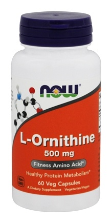 NOW Foods - L-Ornithine 500 mg. - 60 Capsules