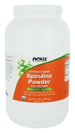 NOW Foods - Certified Organic Spirulina Powder - 4 lbs.