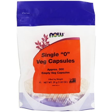 NOW Foods - Vegetable Capsules O Non-Gelatin Vegetarian - 300 Vegetarian Capsules