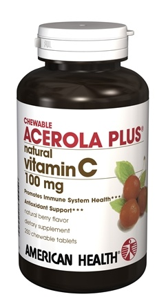 DROPPED: American Health - Acerola Plus Natural Vitamin C100mg - 250 Chewable Tablets