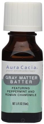 DROPPED: Aura Cacia - Essential Solutions Gray Matter Batter - 0.5 oz.