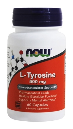 NOW Foods - L-Tyrosine Free Form 500 mg. - 60 Capsules