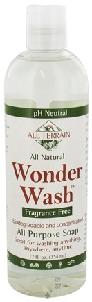 DROPPED: All Terrain - Hiker's Wonder Wash Liquid Soap Fragrance Free - 12 oz. CLEARANCE PRICED