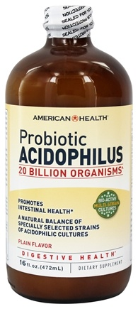 DROPPED: American Health - Probiotic Acidophilus Culture Plain Flavor - 16 oz.