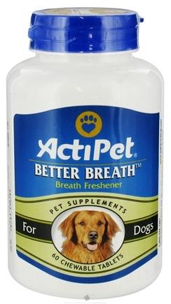 DROPPED: ActiPet - Better Breath For Dogs - 60 Chewable Tablets