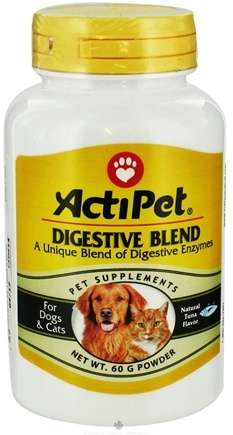 DROPPED: ActiPet - Digestive Blend Powder For Dogs & Cats Tuna Flavor - 60 Grams