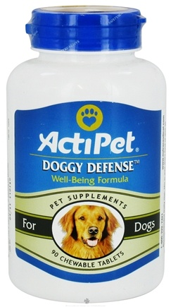 DROPPED: ActiPet - Doggy Defense Well-Being Formula For Dogs - 90 Chewable Tablets CLEARANCE PRICED