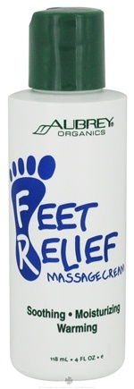 DROPPED: Aubrey Organics - Feet Relief Massage Cream - 4 oz. CLEARANCE PRICED