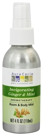 DROPPED: Aura Cacia - Aromatherapy Mist For Room and Body Ginger & Mint - 4 oz.
