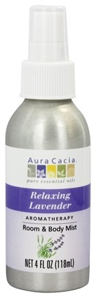 Aura Cacia - Aromatherapy Mist For Room and Body Lavender - 4 oz.